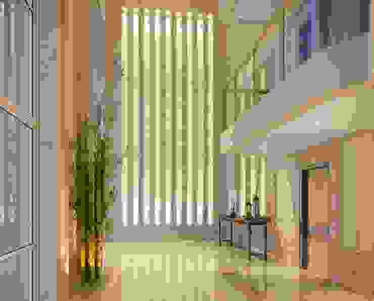 Perspectiva ilustrada l Lobby por Christiana Marques Fotografia Moderno