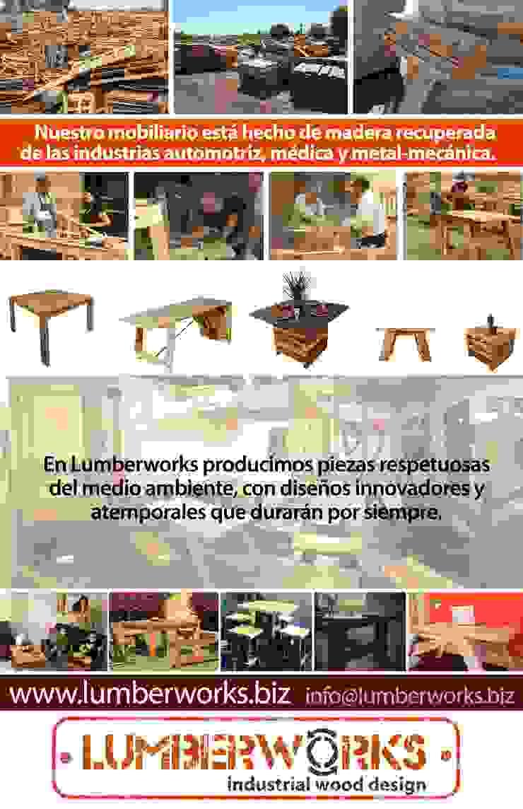Madera Reutilizada:  de estilo industrial por Lumberworks, Industrial
