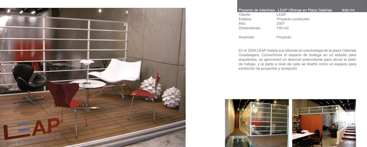 Oficinas LEAP de LEAP Laboratorio en Arquitectura Progresiva Moderno