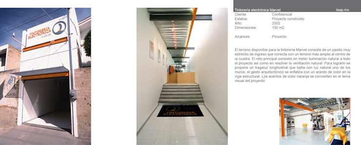 Tintorería Marvel Espacios comerciales de estilo moderno de LEAP Laboratorio en Arquitectura Progresiva Moderno