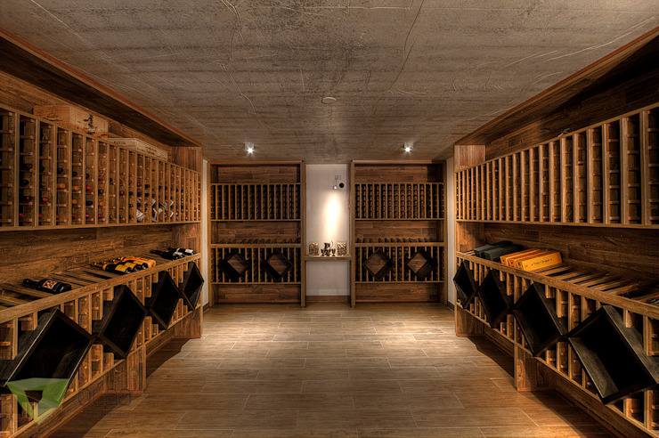 Wine cellar by Olaa Arquitetos, Rustic