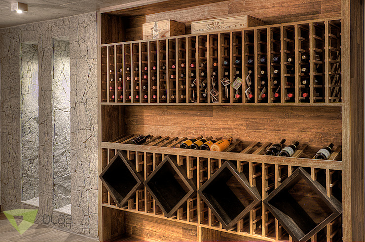 Wine cellar by Olaa Arquitetos,