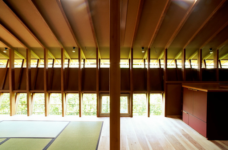 構造体を兼ねた開口部 アジア・和風の 窓&ドア の katachitochikara 和風
