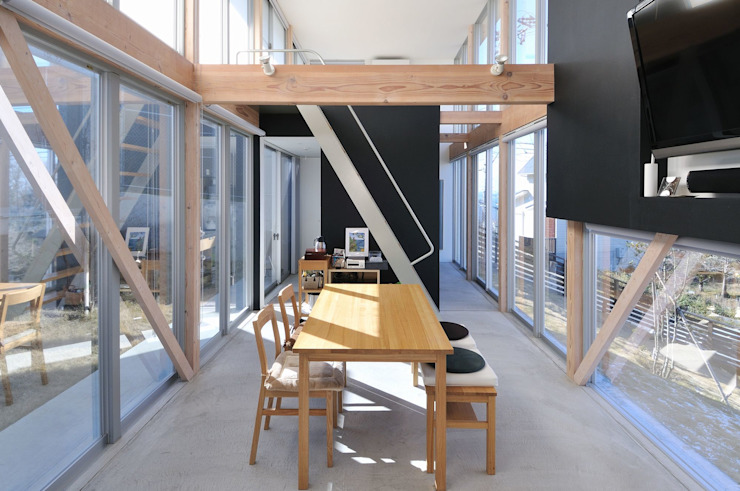 archi-scape モダンデザインの リビング の 岡村泰之建築設計事務所 モダン