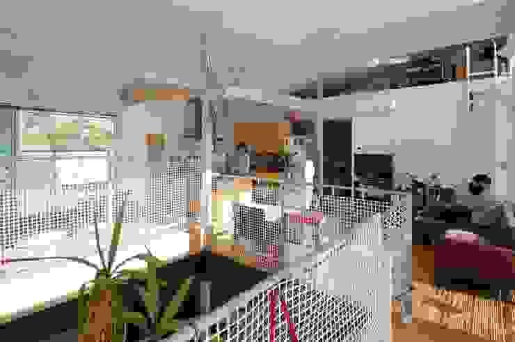 light-scape モダンデザインの リビング の 岡村泰之建築設計事務所 モダン