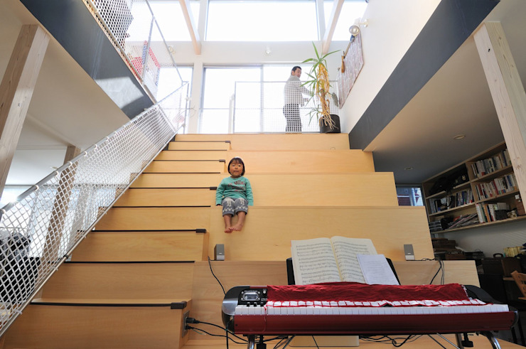 light-scape モダンスタイルの 玄関&廊下&階段 の 岡村泰之建築設計事務所 モダン