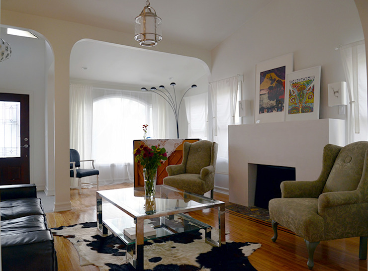 Rejuvenation Project, Los Angeles CA 2014: Salas de estilo  por Erika Winters® Design, Ecléctico