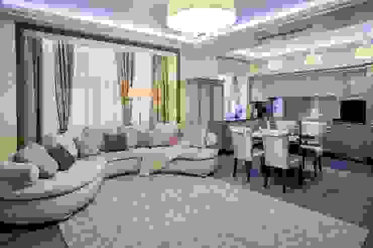 квартира в центре города Гостиные в эклектичном стиле от Center of interior design Эклектичный