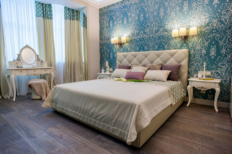 квартира в центре города Спальня в эклектичном стиле от Center of interior design Эклектичный