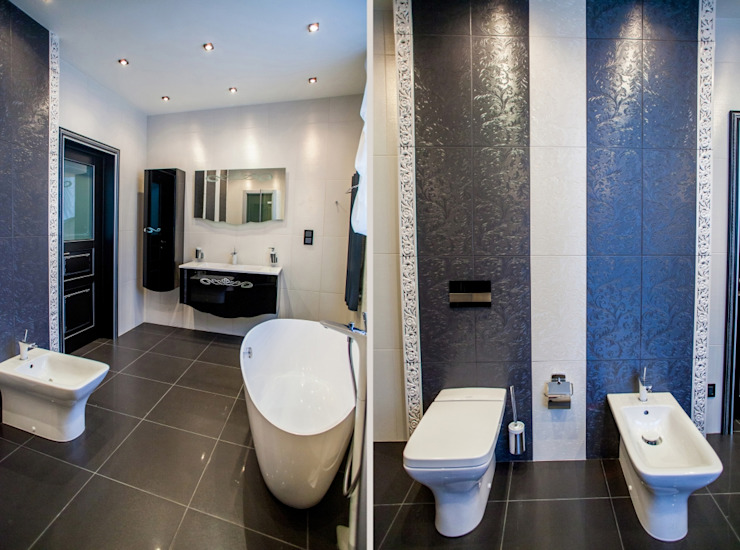 квартира в центре города Ванная комната в эклектичном стиле от Center of interior design Эклектичный