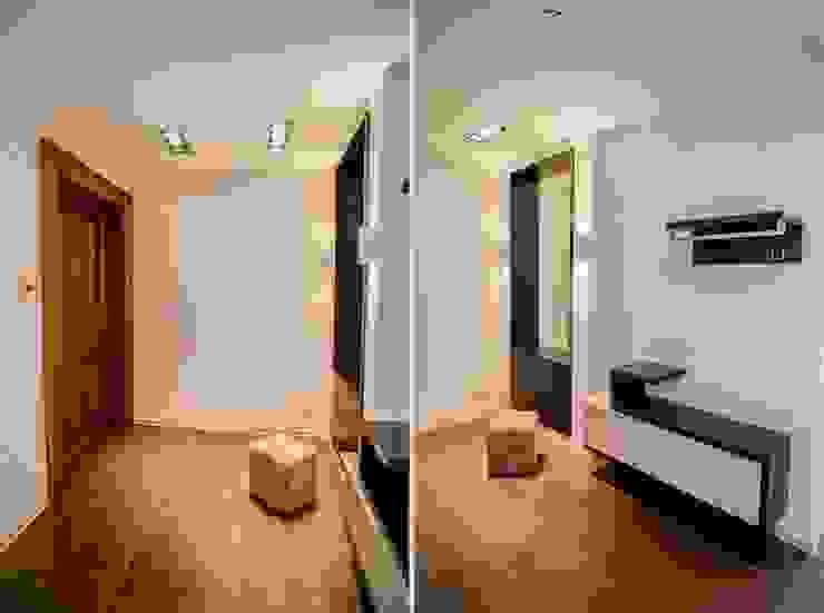 Демонстрационная квартира жилого комплекса AQUAMARINE Коридор, прихожая и лестница в стиле минимализм от Center of interior design Минимализм