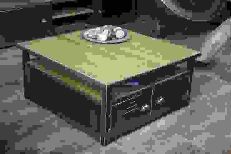 Table basse caisson de style industriel par MICHELI Design Industriel