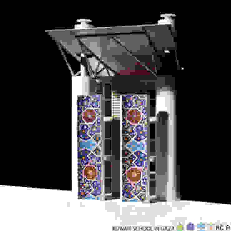 Kuwait School in Gaza, dettaglio modello Studio moderno di Mario Cucinella Architects Moderno