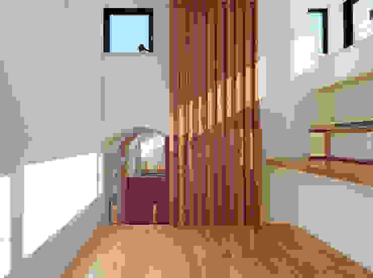 子供部屋上段(勉強部屋) モダンデザインの 子供部屋 の 守山登建築研究所 モダン
