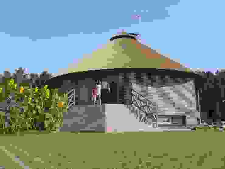 Tropische Häuser von Архитектурное бюро и дизайн студия 'Линия 8' Tropisch