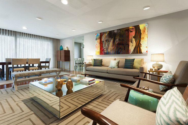 Family Room Salas de estar modernas por Ana Rita Soares- Design de Interiores Moderno