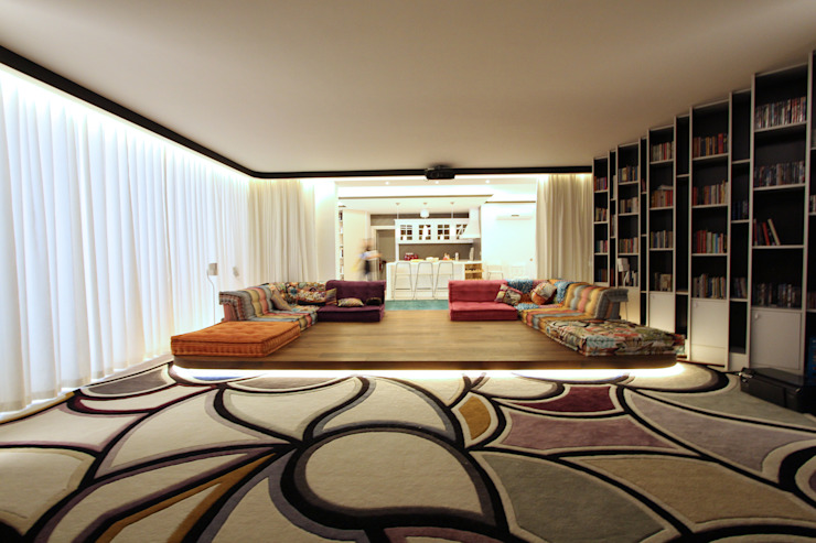 Contemporary Classical Villa in Kemer Golf & Country Modern media room by Orkun İndere Interiors Modern
