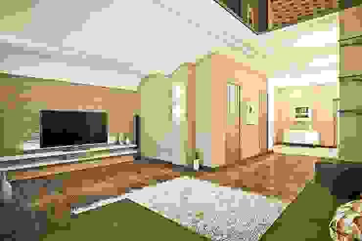 Яркие акценты современных квартир Гостиная в стиле минимализм от STONE design Минимализм