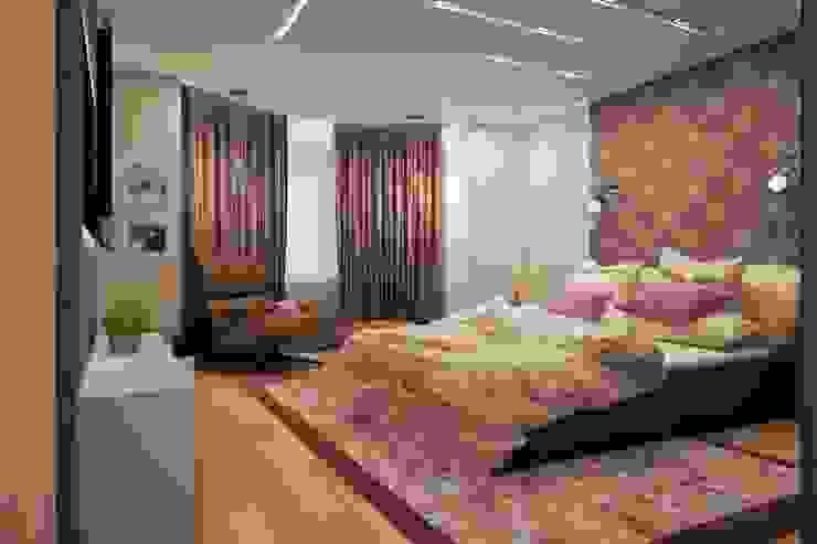 Простота и функциональность современного жилья Спальня в стиле минимализм от STONE design Минимализм