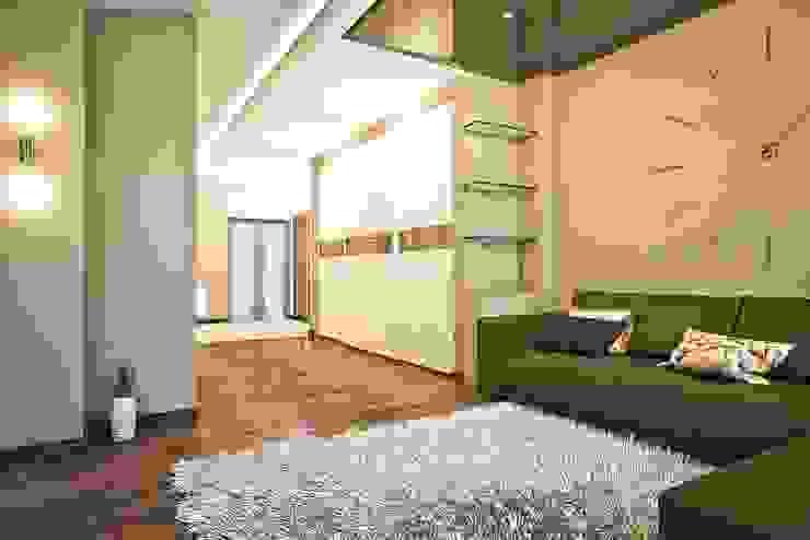 Яркие акценты современных квартир Коридор, прихожая и лестница в стиле минимализм от STONE design Минимализм
