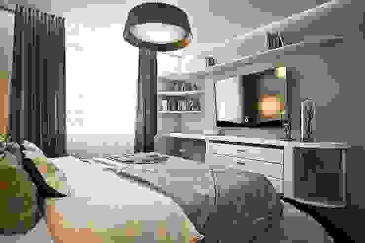 Яркие акценты современных квартир Спальня в стиле модерн от STONE design Модерн