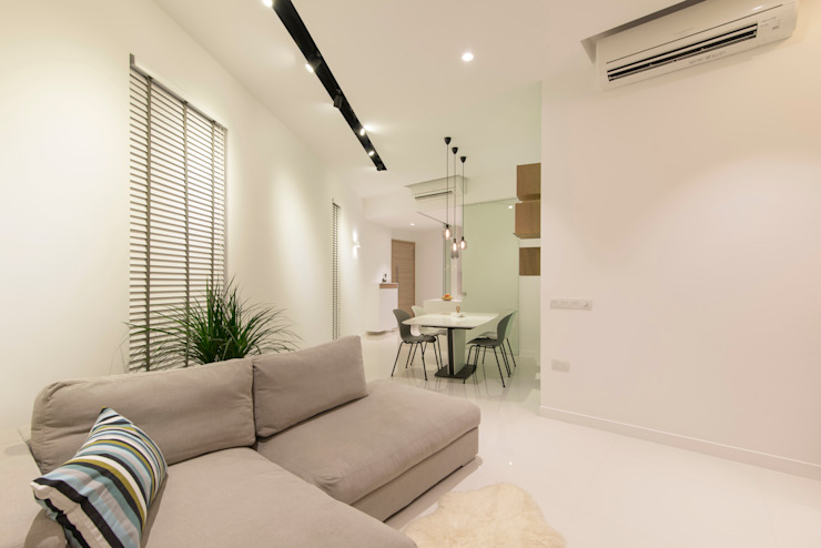 D'Leedon Minimalist living room by Eightytwo Pte Ltd Minimalist