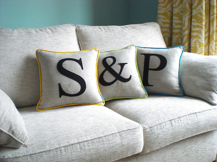 Monogrammed Colour Flash Cushions Kate Sproston Design HouseholdAccessories & decoration