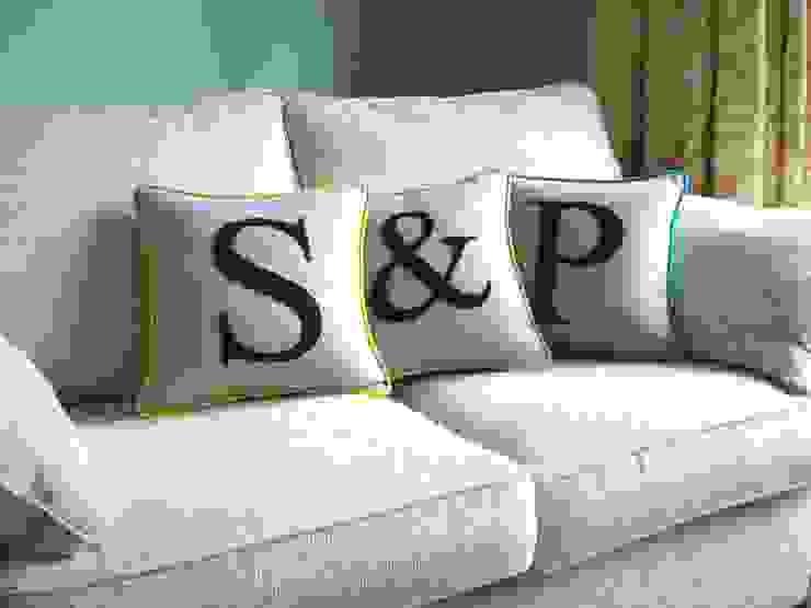 Monogrammed Colour Flash Cushions Kate Sproston Design HogarAccesorios y decoración