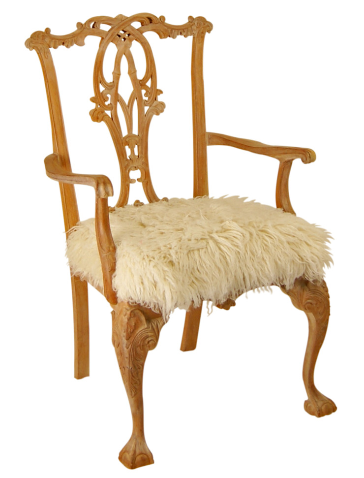 Medici Woolen Chair: rustic  by Kelly Swallow, Rustic
