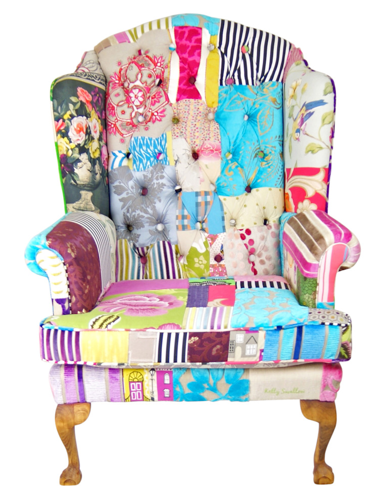 'Ready to Go' patchwork chairs available for sale at http://www.kellyswallow.com/products/: eclectic  by Kelly Swallow, Eclectic