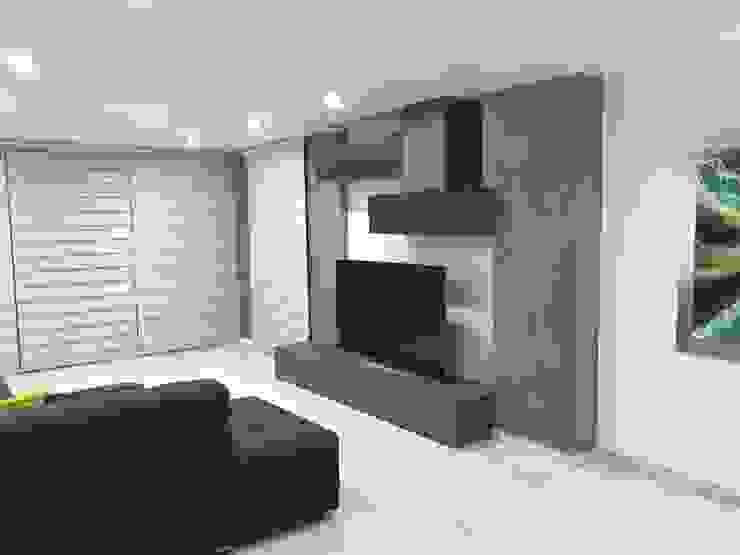 estar t.v Salas multimedia modernas de Arki3d Moderno