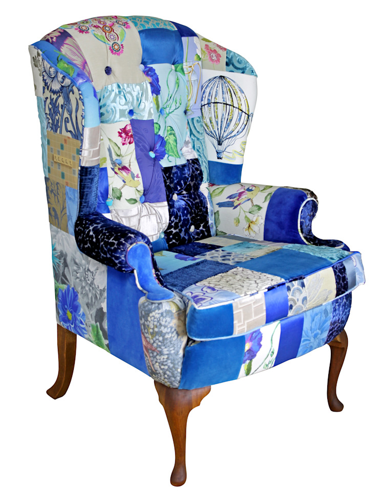 Peggy Wing Chair - Made to Order: eclectic  by Kelly Swallow, Eclectic
