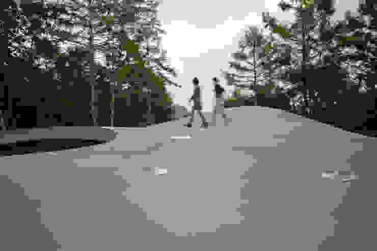 曲面屋根の散歩 の PODA オリジナル コンクリート