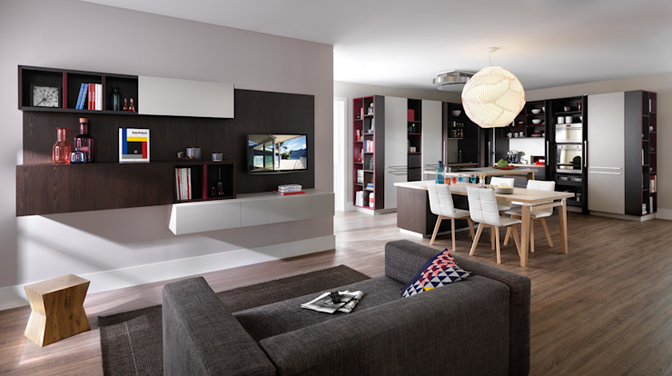 Vorhin noch Küche, jetzt Wohnraum Moderne Küchen von Schmidt Küchen Modern