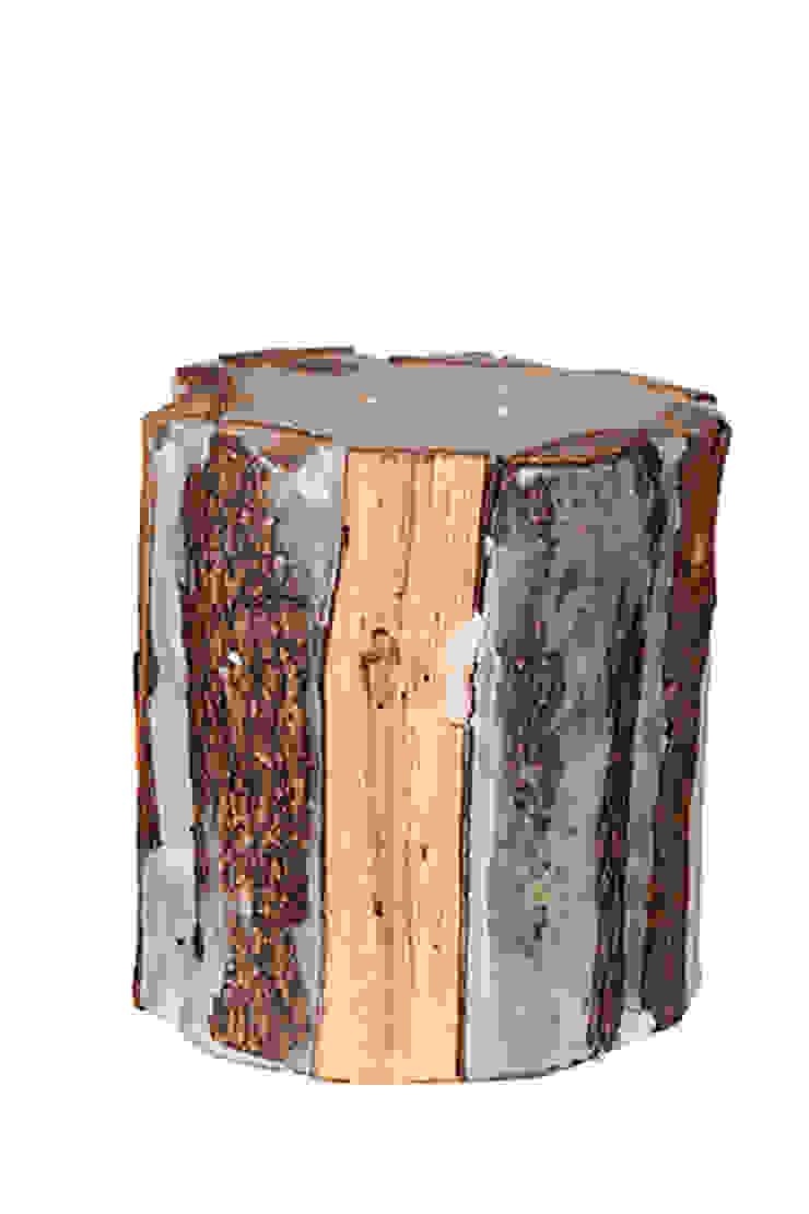 Odunlu Mum - büyük boy / Candle with wood - big Tay Mum Rustik