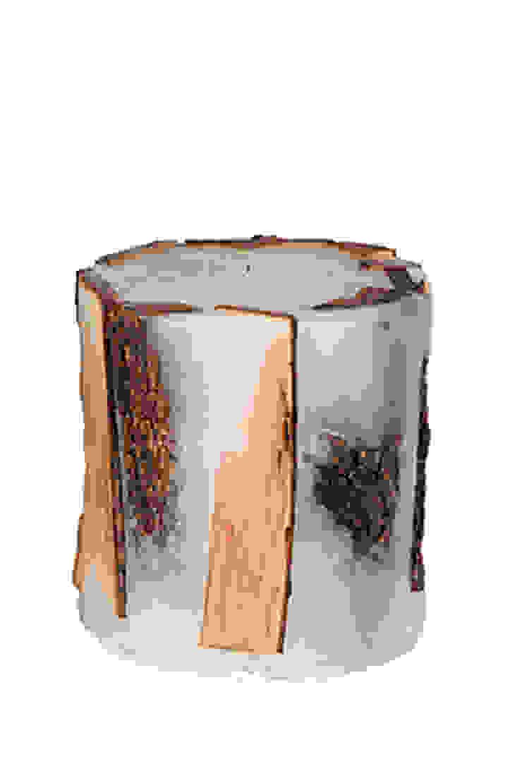 Odunlu Mum - küçük boy / Candle with wood - small Tay Mum Rustik