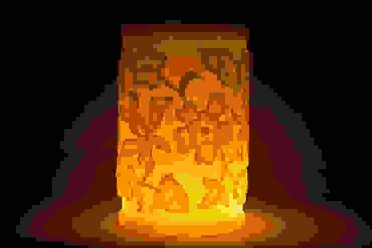 Çiçekli Fener / Ottoman Floral Design Lantern Tay Mum Klasik