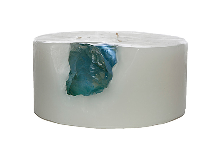 Tay Mum – Blok Camlı Mum - büyük / Glass Implanted Candle - big: modern tarz , Modern
