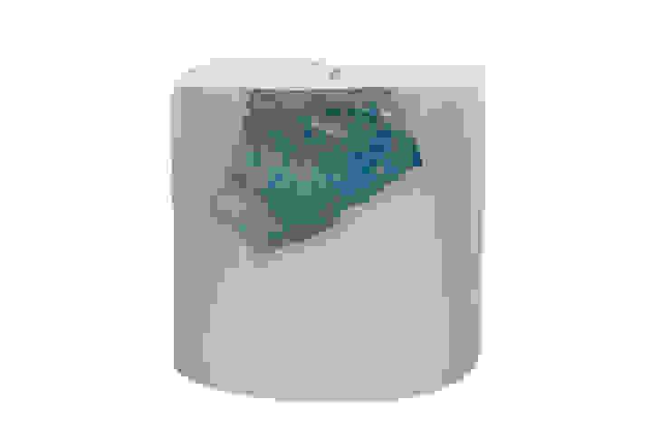 Tay Mum – Blok Camlı Mum - küçük / Glass Implanted Candle - small: modern tarz , Modern