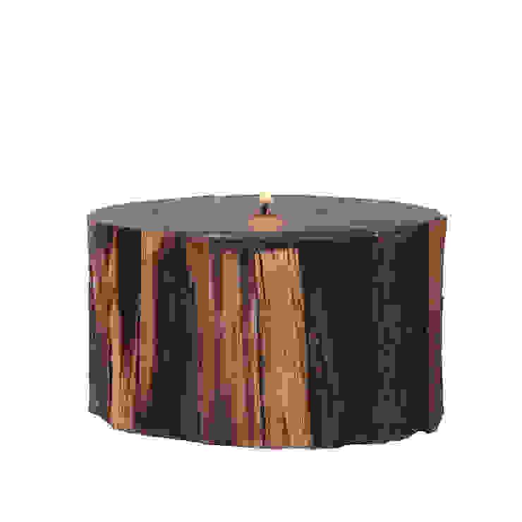 Odunlu Şömine Mumu - Yuvarlak / Fireplace candle - Round Tay Mum Rustik