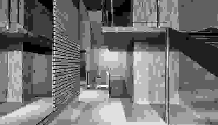 Corredores, halls e escadas modernos por PRIBURGOS SLU Moderno