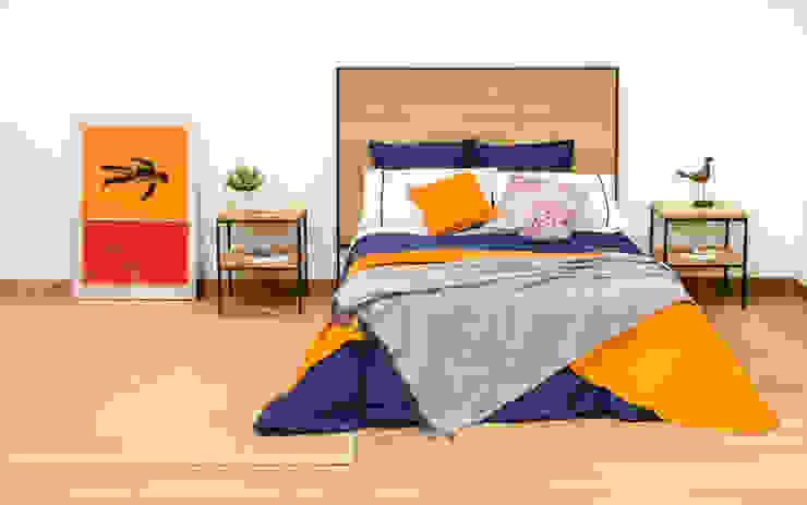 인더스트리얼 침실 by Cube Deco 인더스트리얼