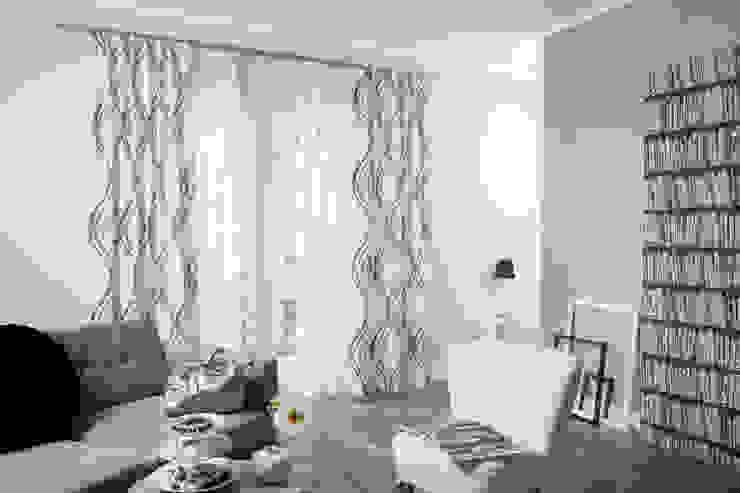 Indes Stoff Dreamdancer 4255-01 und Symphony 4258-15 Indes Fuggerhaus Textil GmbH Fenster & TürGardinen und Vorhänge