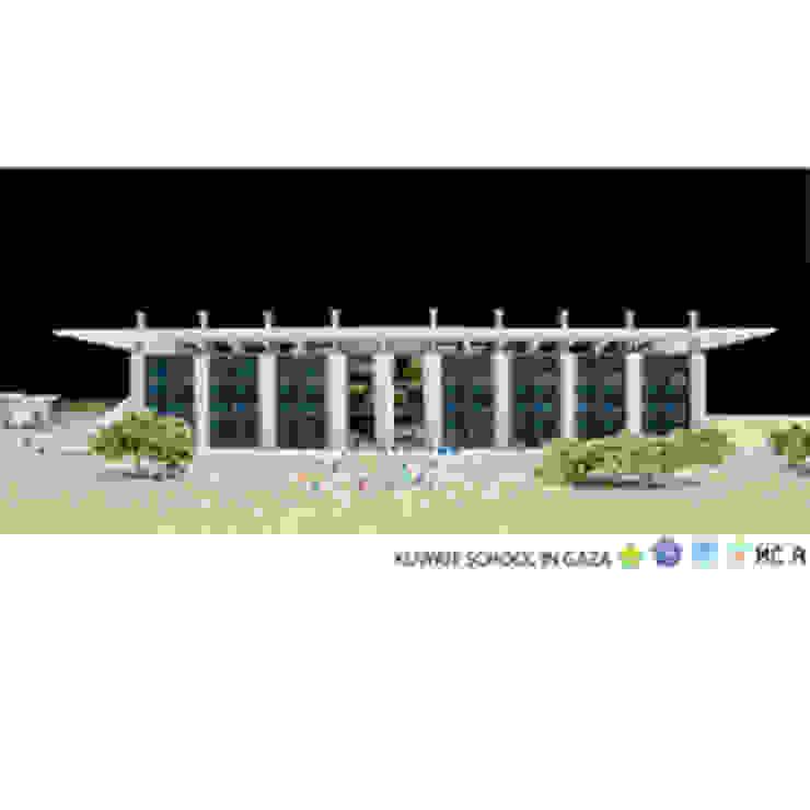 Kuwait School in Gaza, modello prospetto Case moderne di Mario Cucinella Architects Moderno
