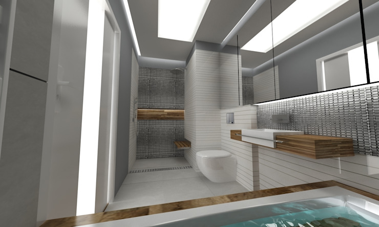 Baños de estilo escandinavo de WW Studio Architektoniczne Escandinavo