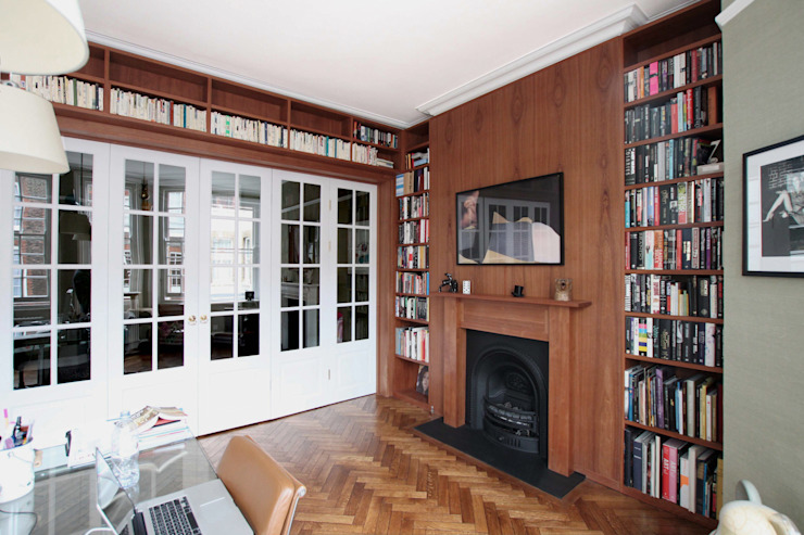 Wraparound Library & French Doors, Hampstead by Tendeter Minimalist