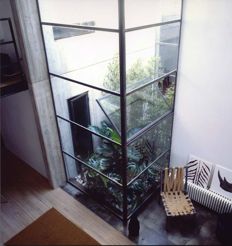 loft gemelli Balcone, Veranda & Terrazza in stile industriale di antonio maria becatti architetto Industrial