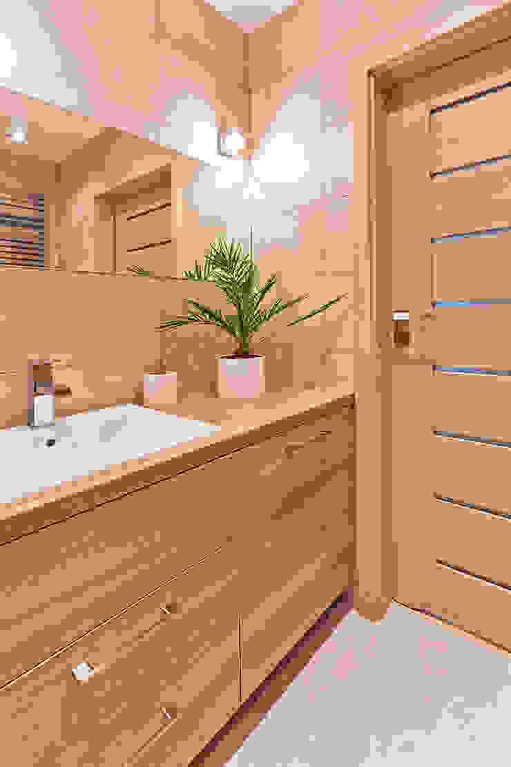 łazienka Skandynawska łazienka od ap. studio architektoniczne Aurelia Palczewska-Dreszler Skandynawski