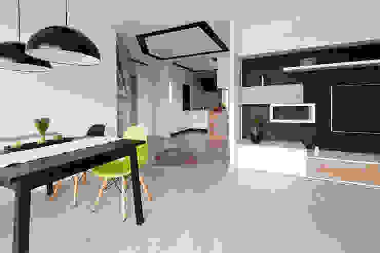 salon z jadalnią Skandynawski salon od ap. studio architektoniczne Aurelia Palczewska-Dreszler Skandynawski