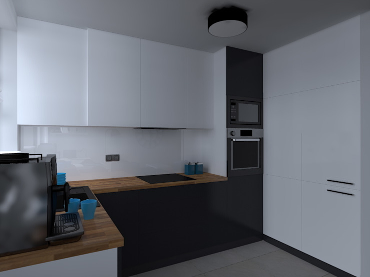 ap. studio architektoniczne Aurelia Palczewska Kitchen